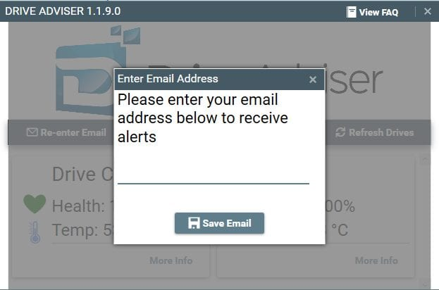 Drive Adviser Email Alerts About Hard Drive Health
